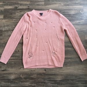NWT ✨ - Rue 21 - Destructed Pink Sweater